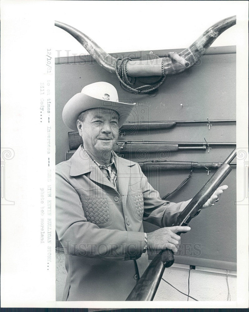 1981 Citrus County, FL Buffalo Bill Cody's Grandnephew Bill Cody Press Photo - Historic Images
