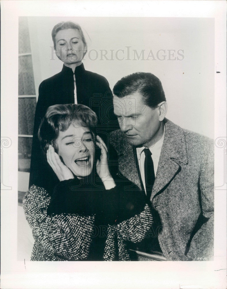 1962 Hollywood Actors Wendell Corey & Vera Miles Press Photo - Historic Images