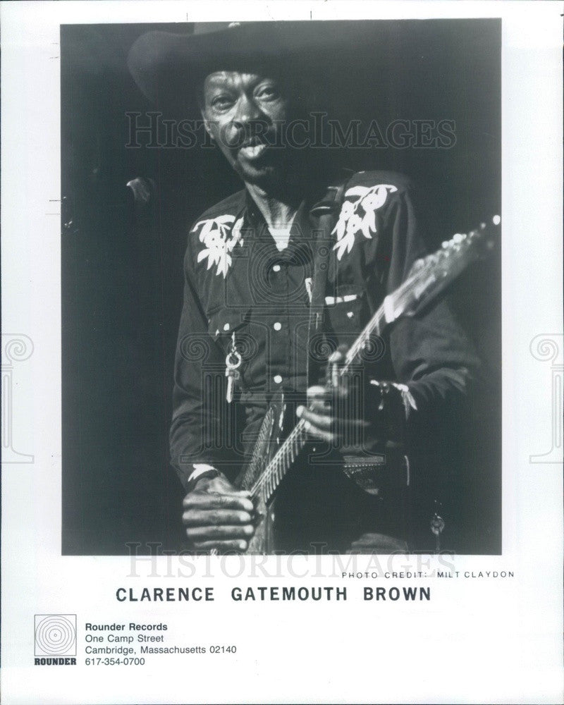 1992 Blues/Swing/Country/Cajun Musician Clarence Gatemouth Brown Press Photo - Historic Images