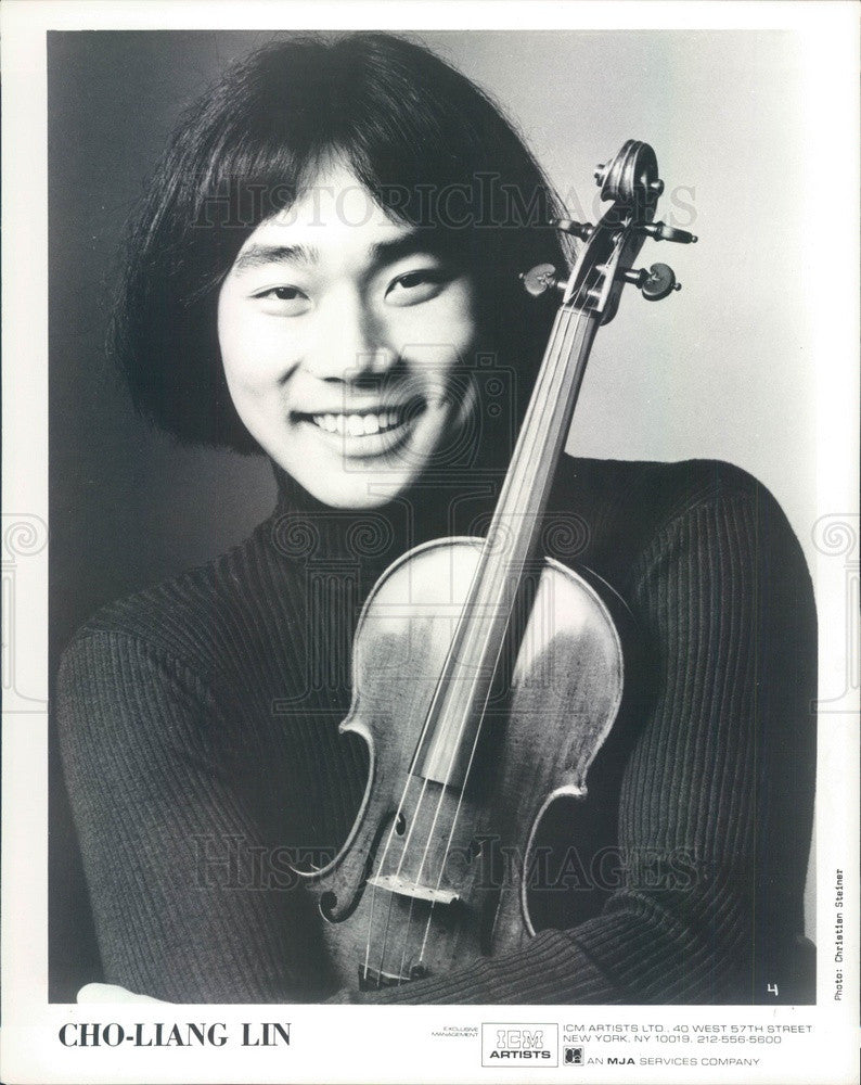 1984 Taiwanese American Violinist Cho-Liang Lin Press Photo - Historic Images