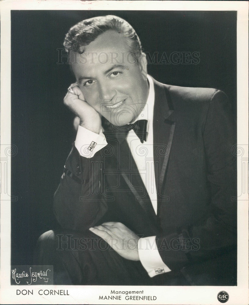 1963 Pop Singer Don Cornell Press Photo - Historic Images