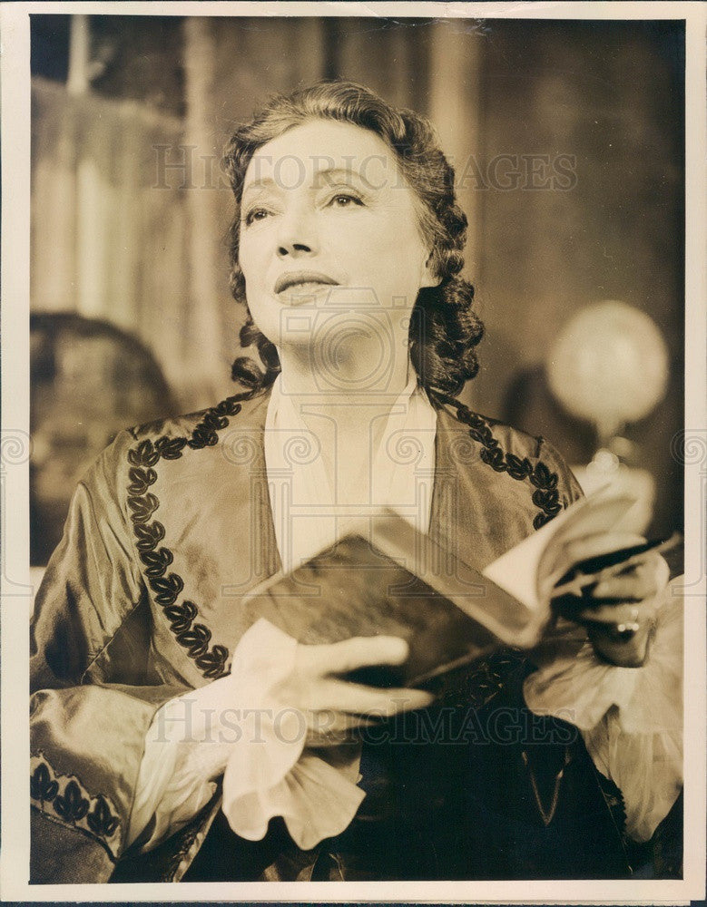 1956 Tony Winning Stage Actress Katharine Cornell Press Photo - Historic Images