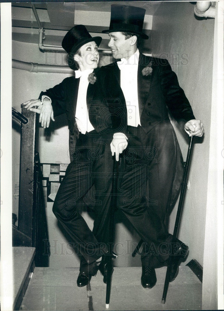1984 Actors Sandy Duncan & Don Correia in Singin' in the Rain Press Photo - Historic Images