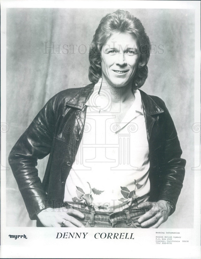 1983 Rock Band Blues Image Singer Denny Correll, Christian Music Press Photo - Historic Images