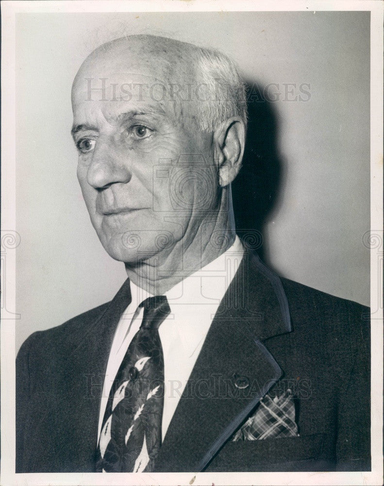 1954 St. Pete FL, American Legion Post 14 Organizer George Coslick Press Photo - Historic Images