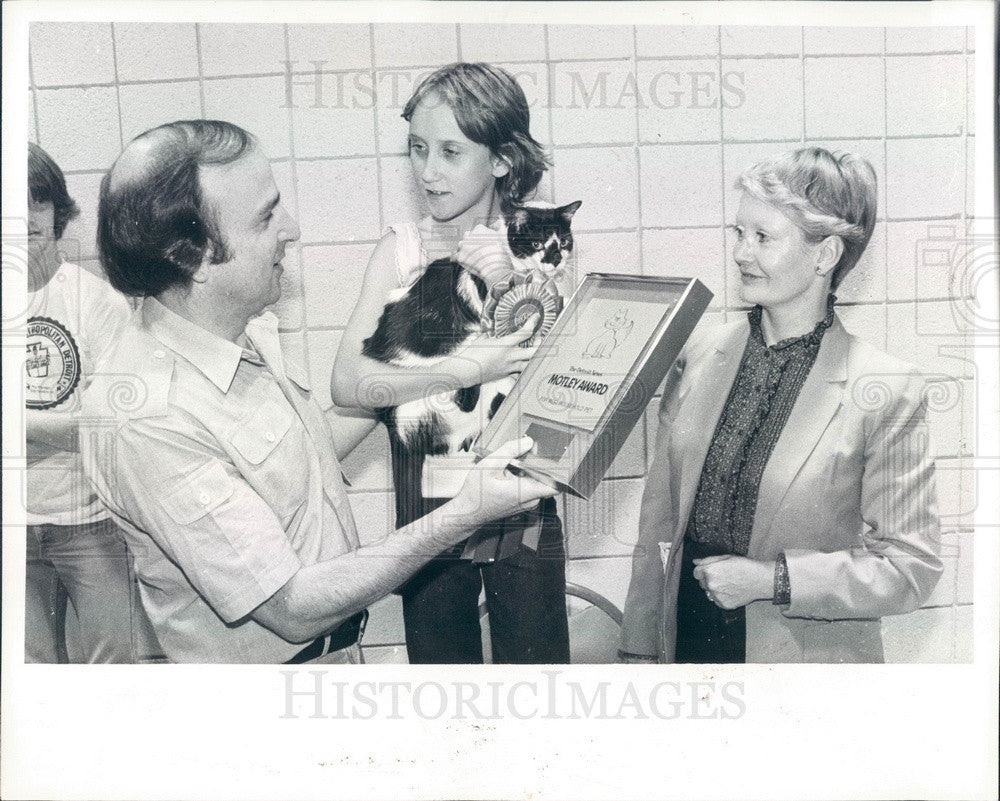 1980 Detroit, Michigan News Editorial Cartoonist Larry Wright Press Photo - Historic Images