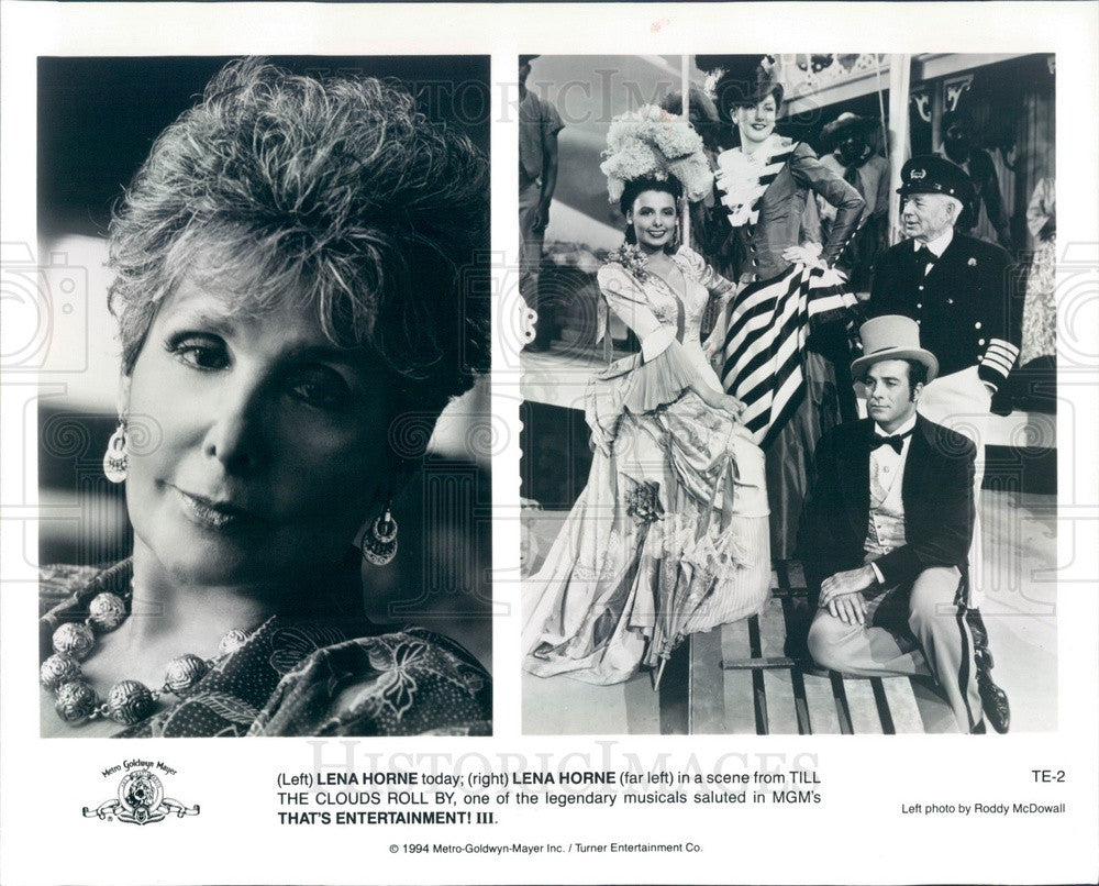 1994 Singer & Actress Lena Horne in Scene From That's Entertainment Press Photo - Historic Images