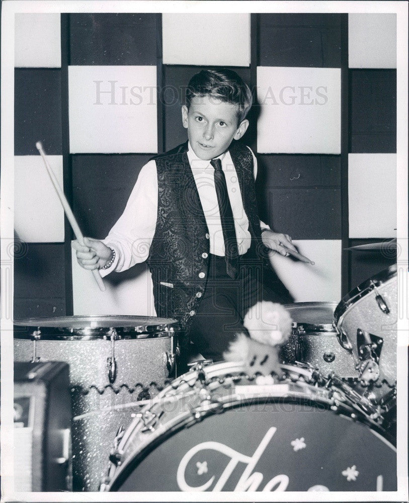 1965 Detroit, Michigan Drummer Wally Brookshire Press Photo - Historic Images