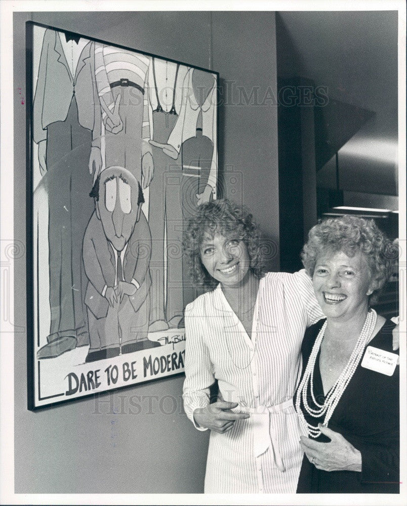 1981 Denver, CO Artist Meg Biddle & Her Mother Edwinston Robbins Press Photo - Historic Images