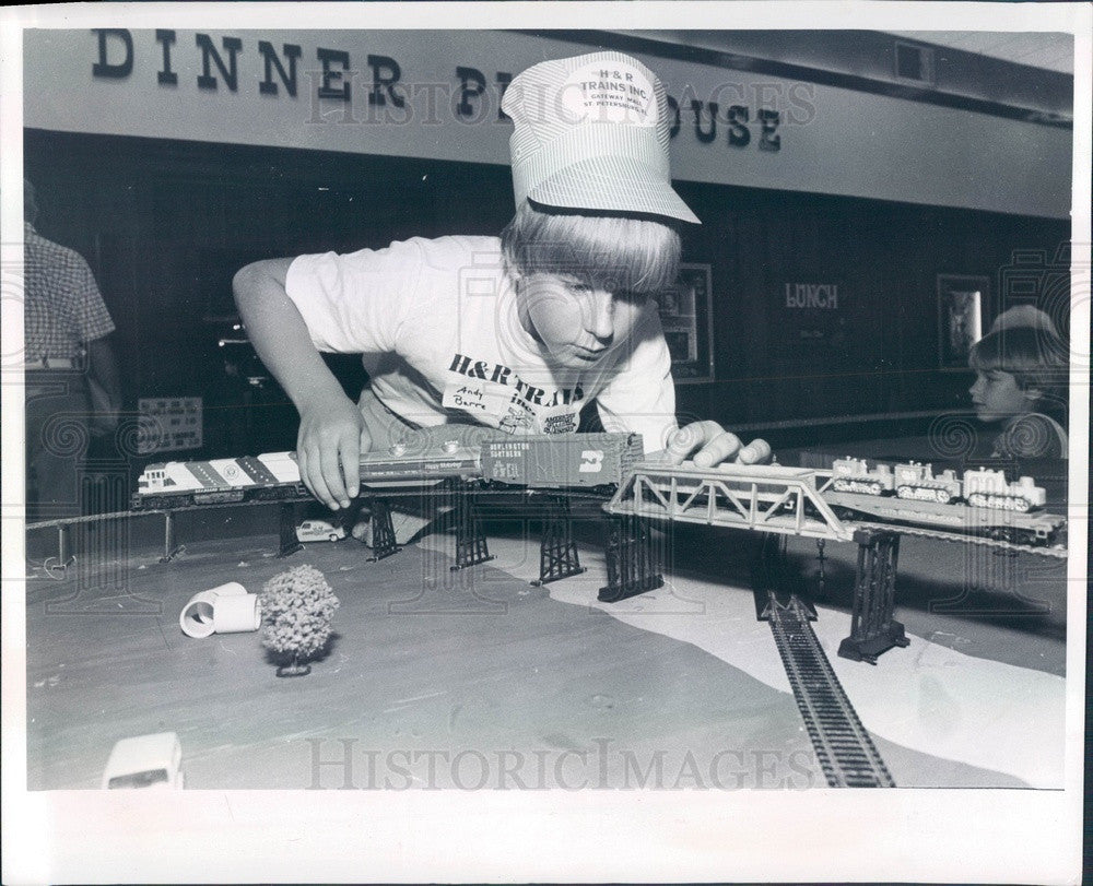 1980 St Petersburg, FL Gateway Mall Model Train Show, Andy Barre Press Photo - Historic Images