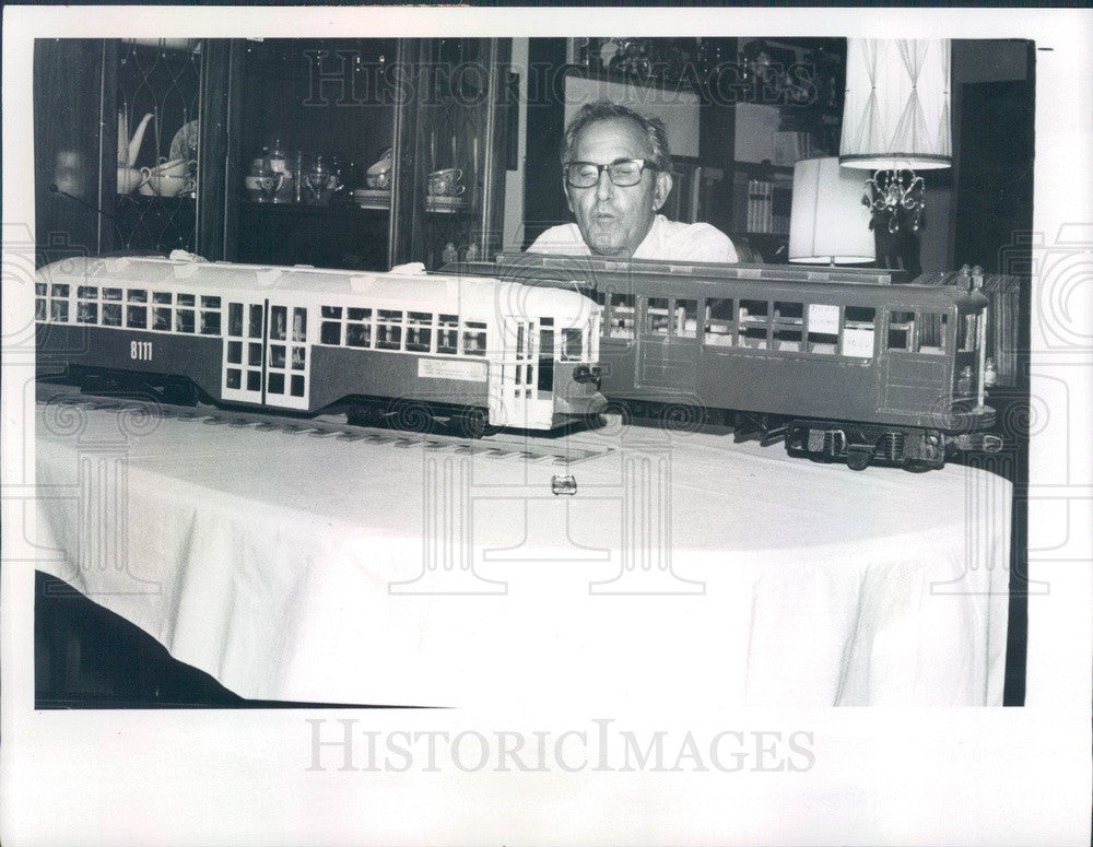 1980 Citrus Springs, Florida Model Train Enthusiast Nick Vaccaro Press Photo - Historic Images