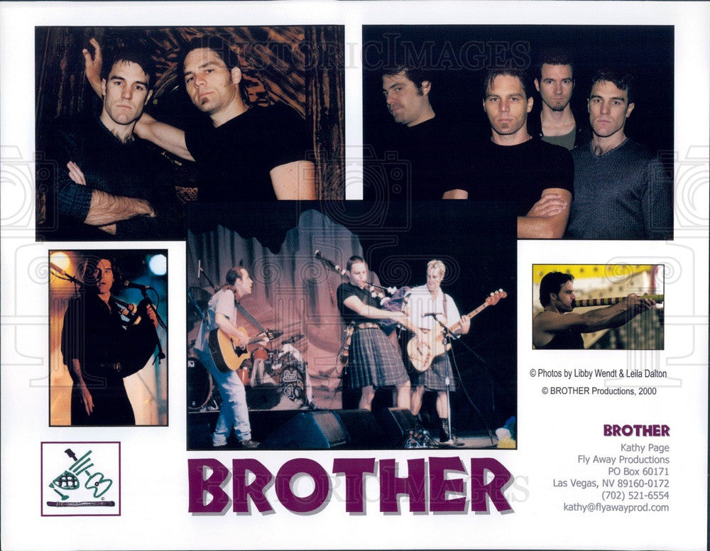2000 Australian Celtic Rock Band Brother Press Photo - Historic Images