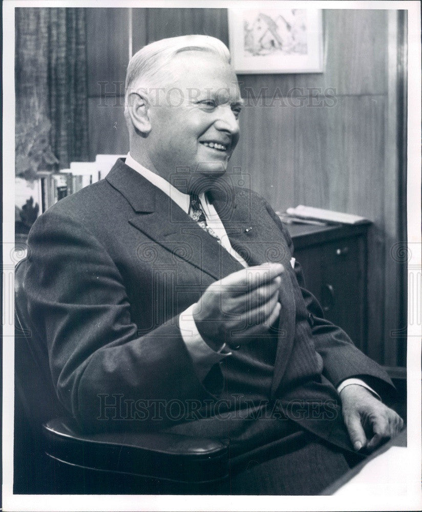 1963 Detroit, Michigan Edison President Walker Cisler Press Photo - Historic Images