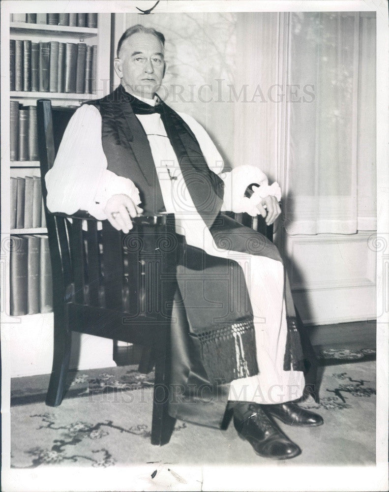 1937 NY Episcopal Suffragan Bishop Frank Whittington Creighton Press Photo - Historic Images