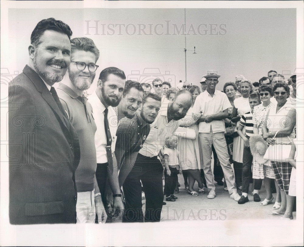 1964 St Petersburg, FL Funtime Beard Contest, Bill West, Gene Nail Press Photo - Historic Images