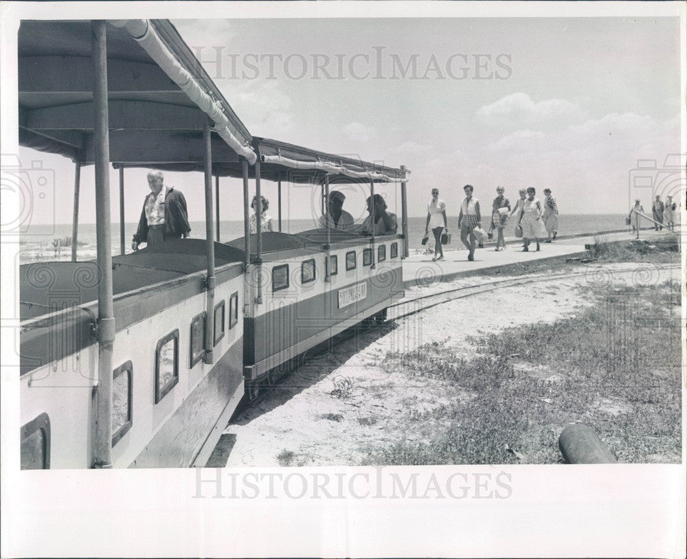 1959 Florida, Fort De Soto Park Railroad on Mullet Key Press Photo - Historic Images