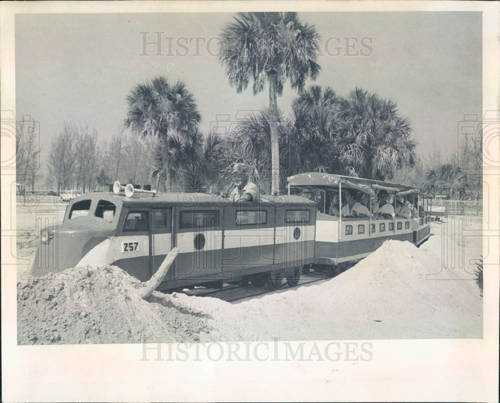1963 Florida, Fort De Soto Park Railroad on Mullet Key Press Photo - Historic Images