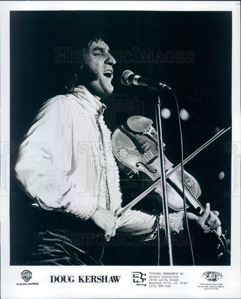 1978 American Fiddle Player Doug Kershaw Press Photo - Historic Images