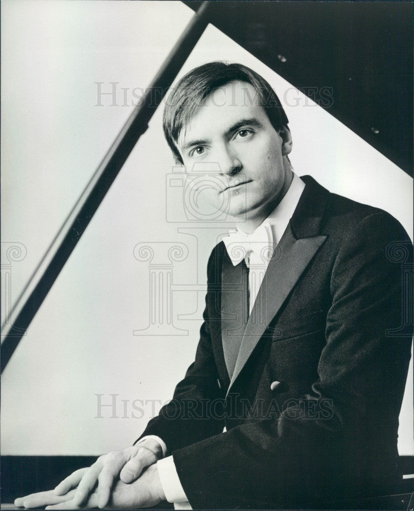 1985 Concert Pianist Stephen Hough Press Photo - Historic Images