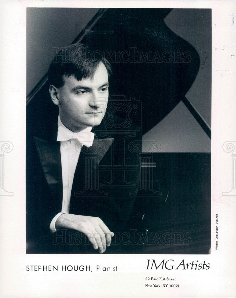 1990 Concert Pianist Stephen Hough Press Photo - Historic Images