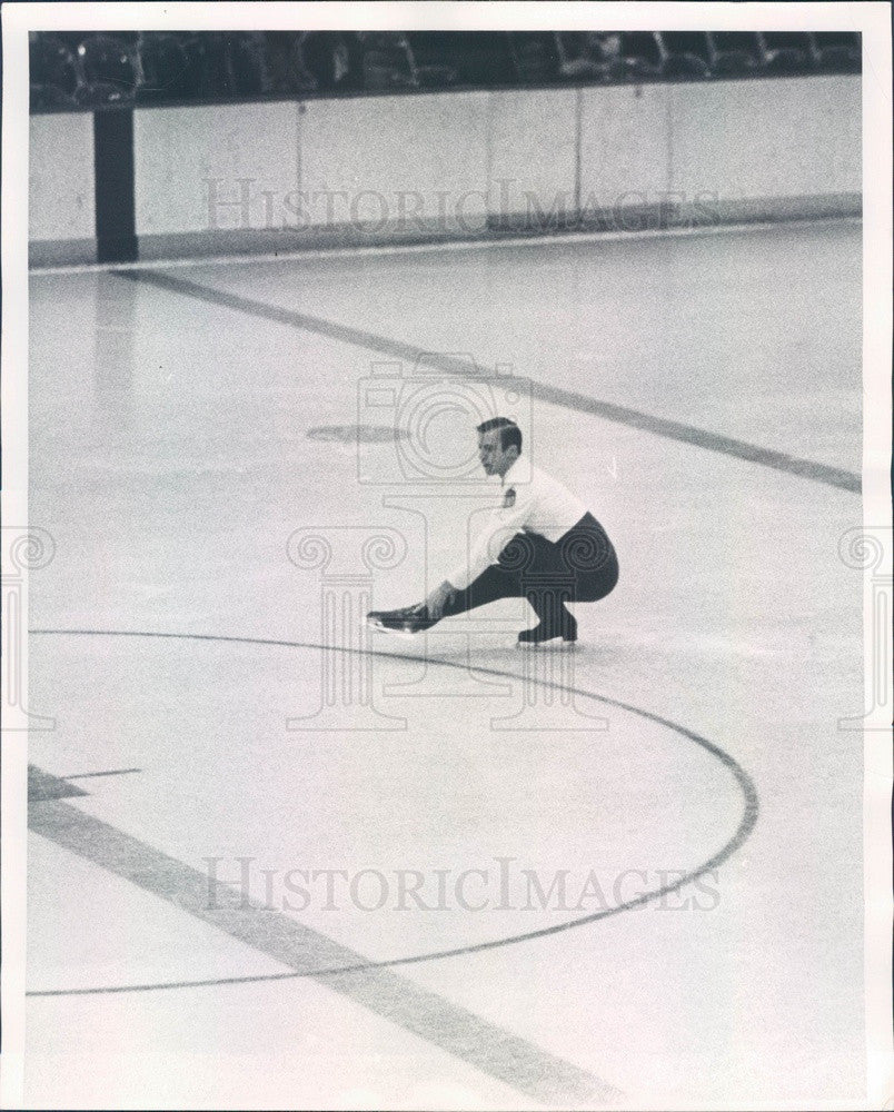 1964 Denver CO Men's Skating Champion Monty Hoyt, Olympic Competitor Press Photo - Historic Images