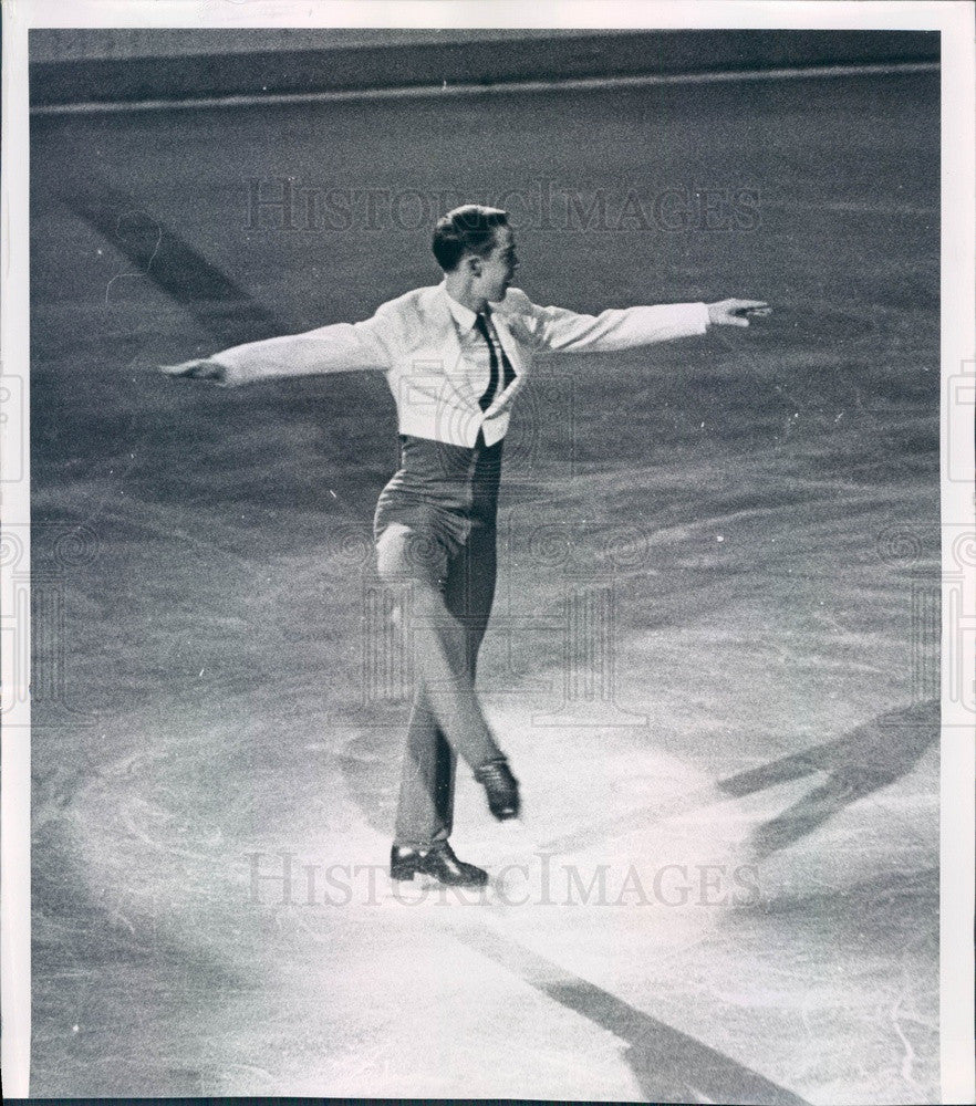 1963 Denver CO Men's Skating Champion Monty Hoyt, Olympic Competitor Press Photo - Historic Images