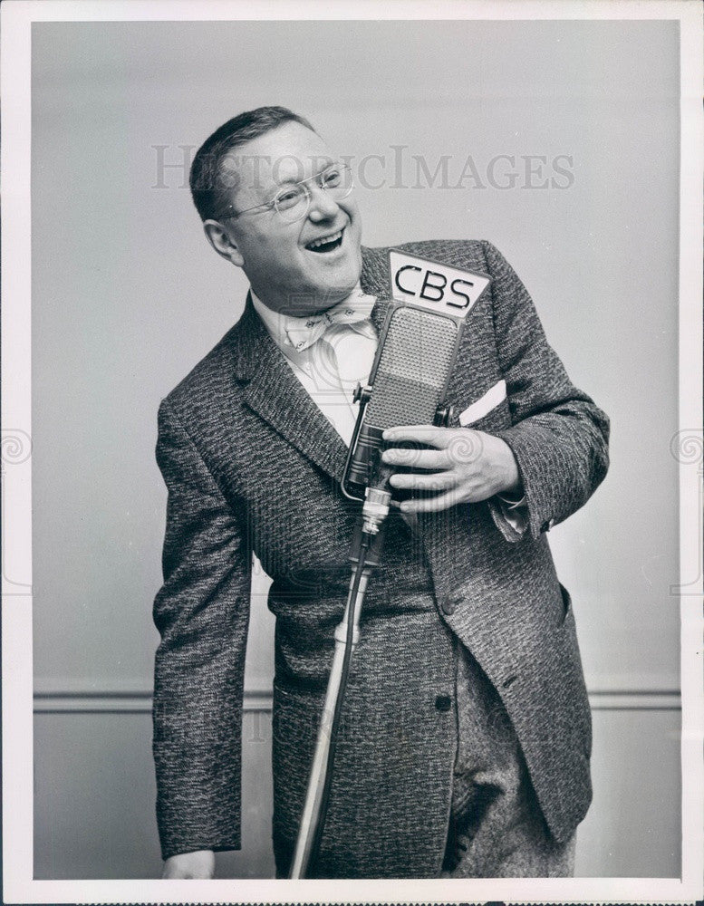 1956 Humorist, TV Host, Author Sam Levenson Press Photo - Historic Images