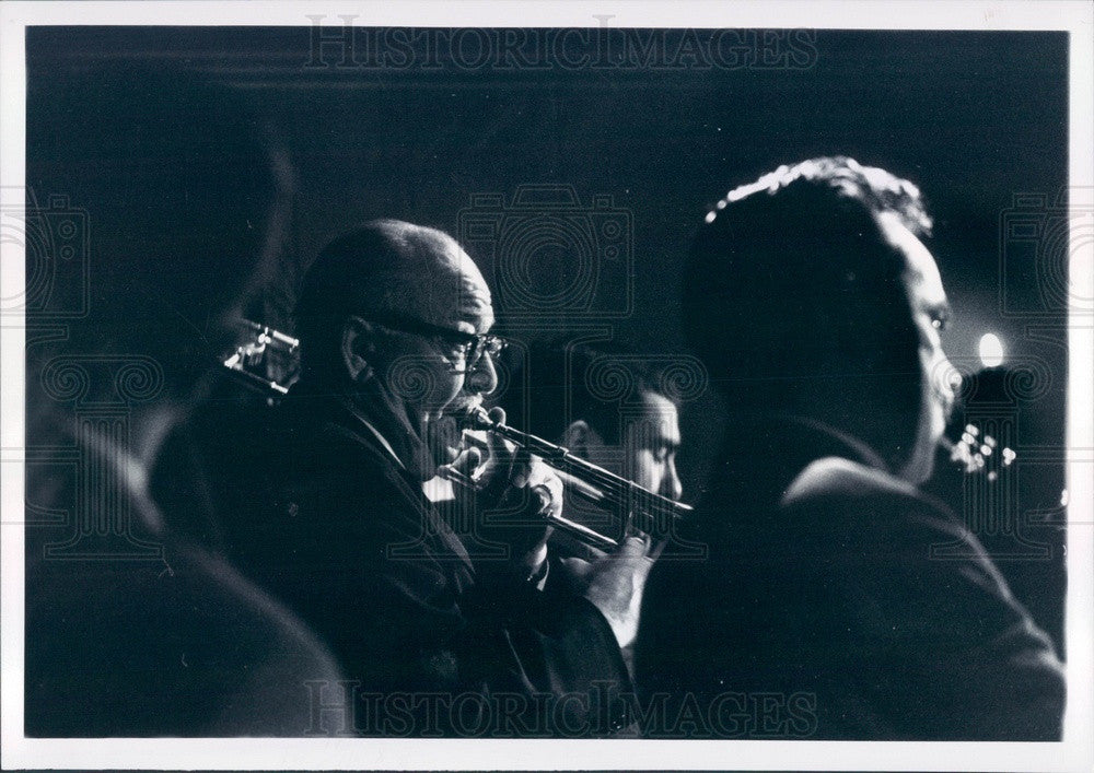 1965 Jazz Trombonist Pee Wee Hunt at Detroit MI Saint & Sinners Club Press Photo - Historic Images