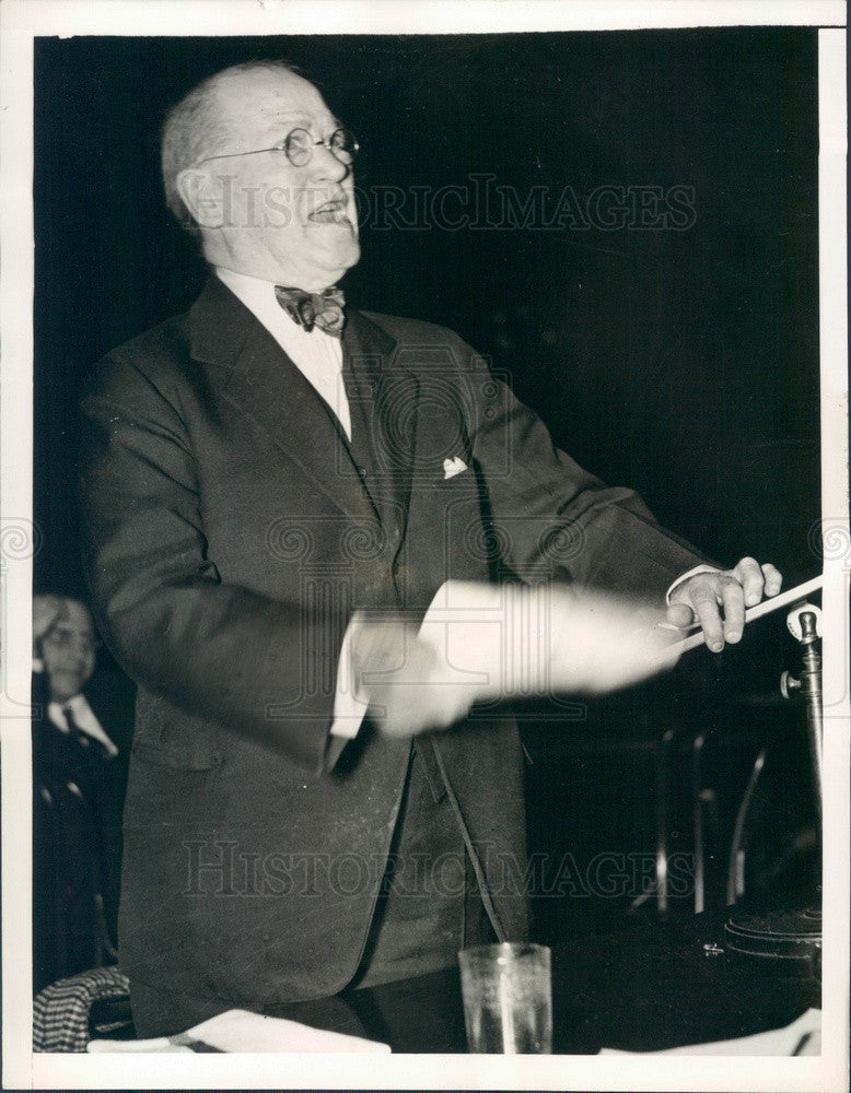 1938 William Brady, Dean of the Legitimate Theater Press Photo - Historic Images