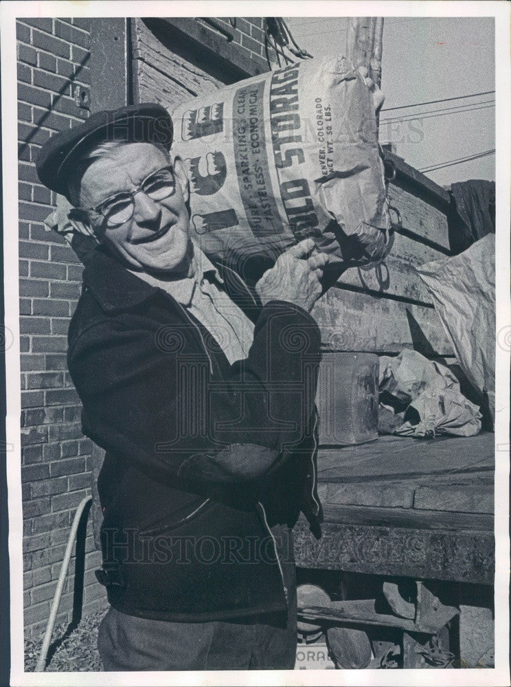 1965 Denver, Colorado 80-Year-Old Iceman Nat Kitchell Press Photo - Historic Images