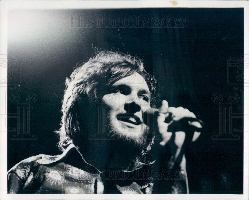 1973 Chicago, Illinois Singer Bill Williams Press Photo - Historic Images