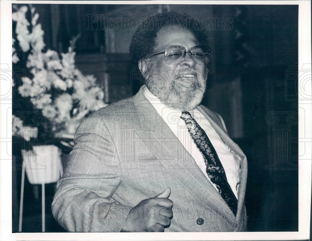 1990 San Francisco, CA Rev Cecil Williams of Glide Memorial United Press Photo - Historic Images