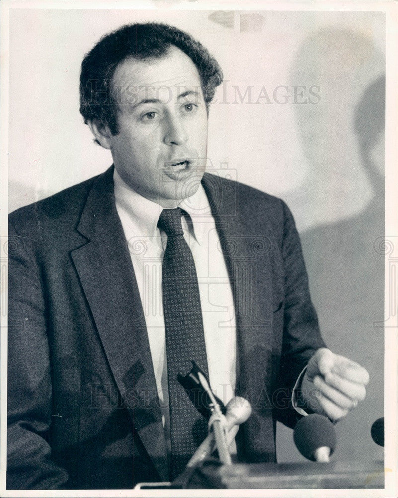 1984 Chicago, IL Patrick Quinn, Coalition for Political Honesty Dir Press Photo - Historic Images