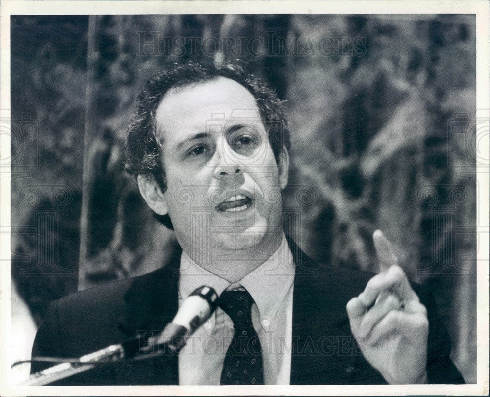 1986 Chicago, IL Patrick Quinn, Coalition for Political Honesty Dir Press Photo - Historic Images