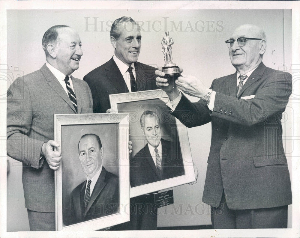 1961 Chicago, IL Old Town Boys Club Hall of Famers David Meyers Press Photo - Historic Images