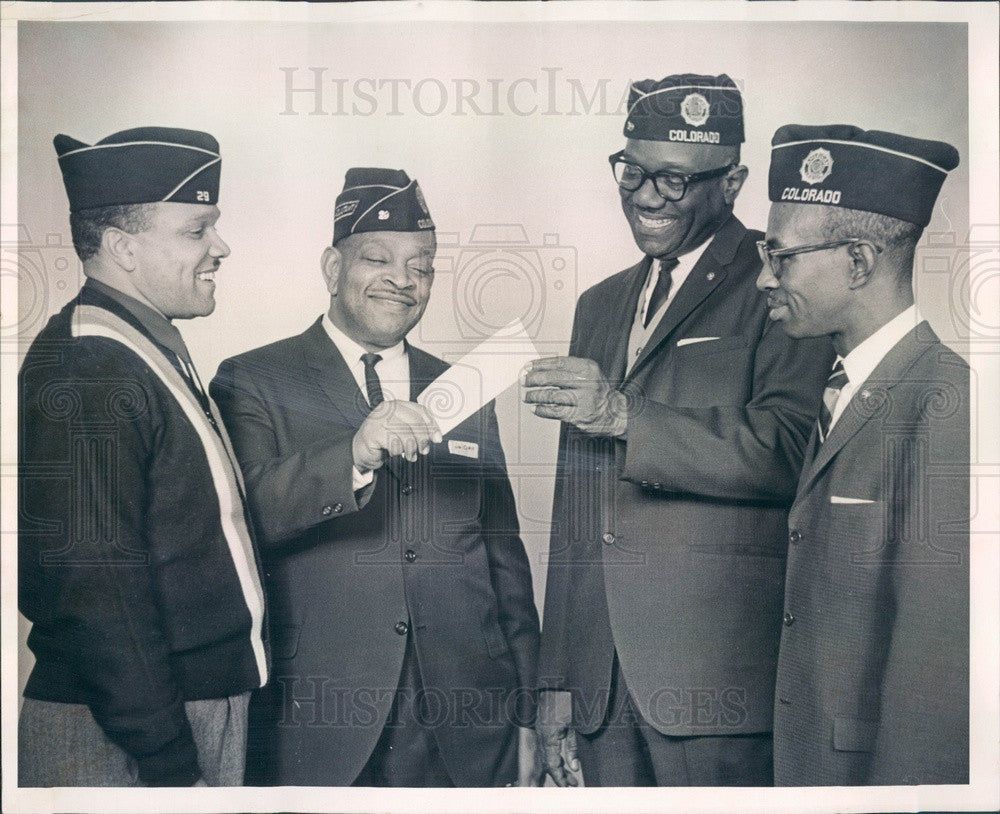 1965 Denver, CO Wallace Simpson American Legion Post 29 Officers Press Photo - Historic Images