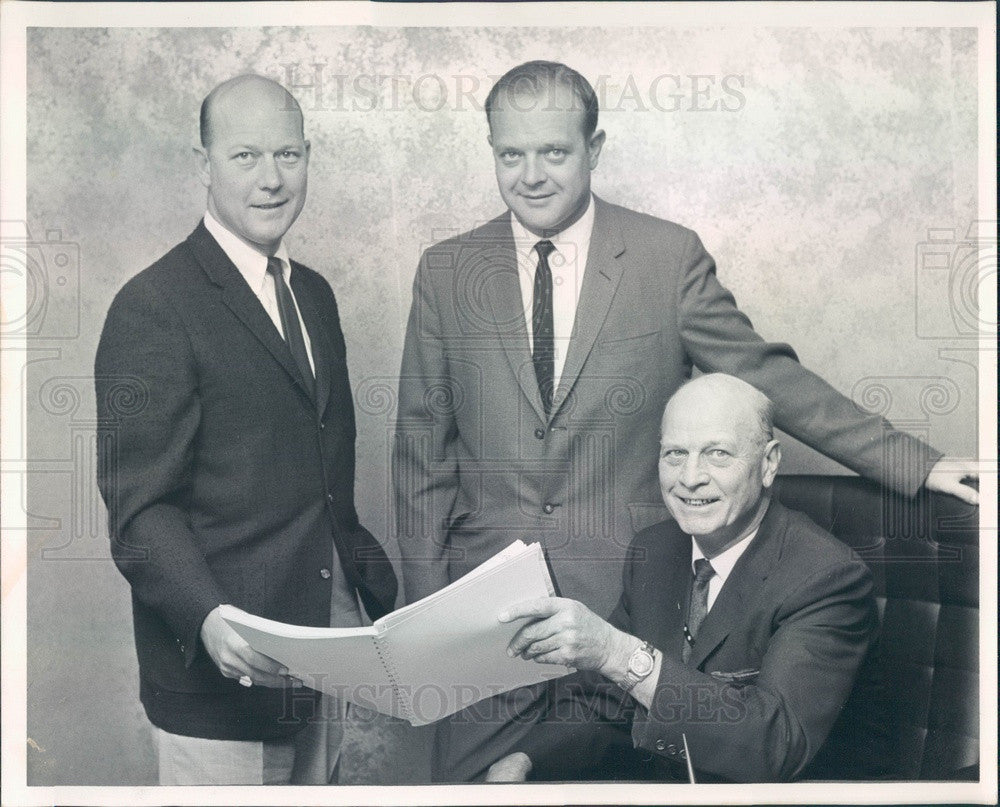 1964 Denver, CO Howell's Dept Store Execs Paul, Jack, Paul Howell Jr Press Photo - Historic Images