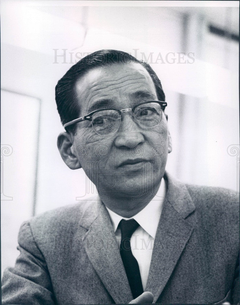 1959 Mitisuo Fuchida, Leader of Japanese Bombers at Pearl Harbor Press Photo - Historic Images