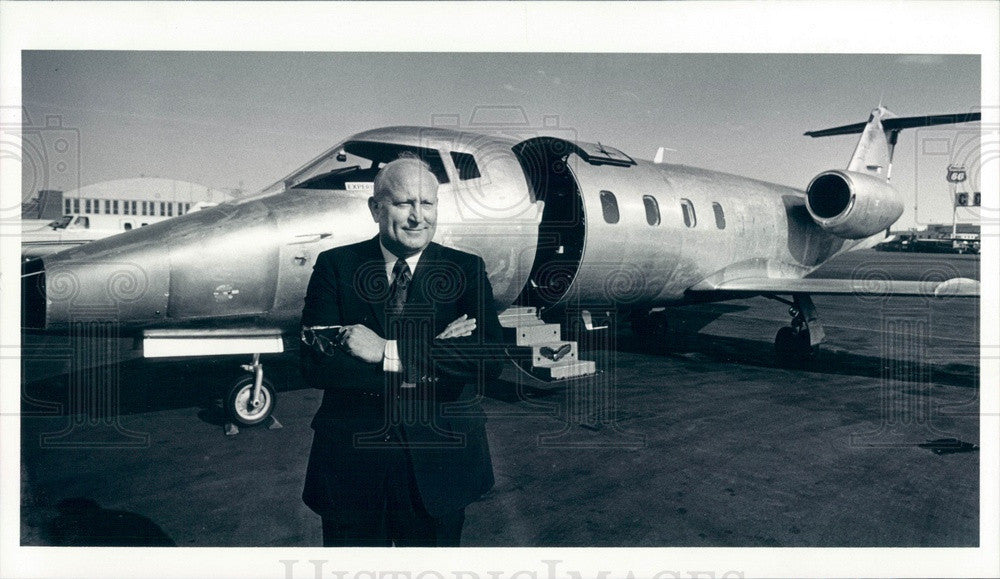 1983 Branson Aircraft President Carl Branson Press Photo - Historic Images