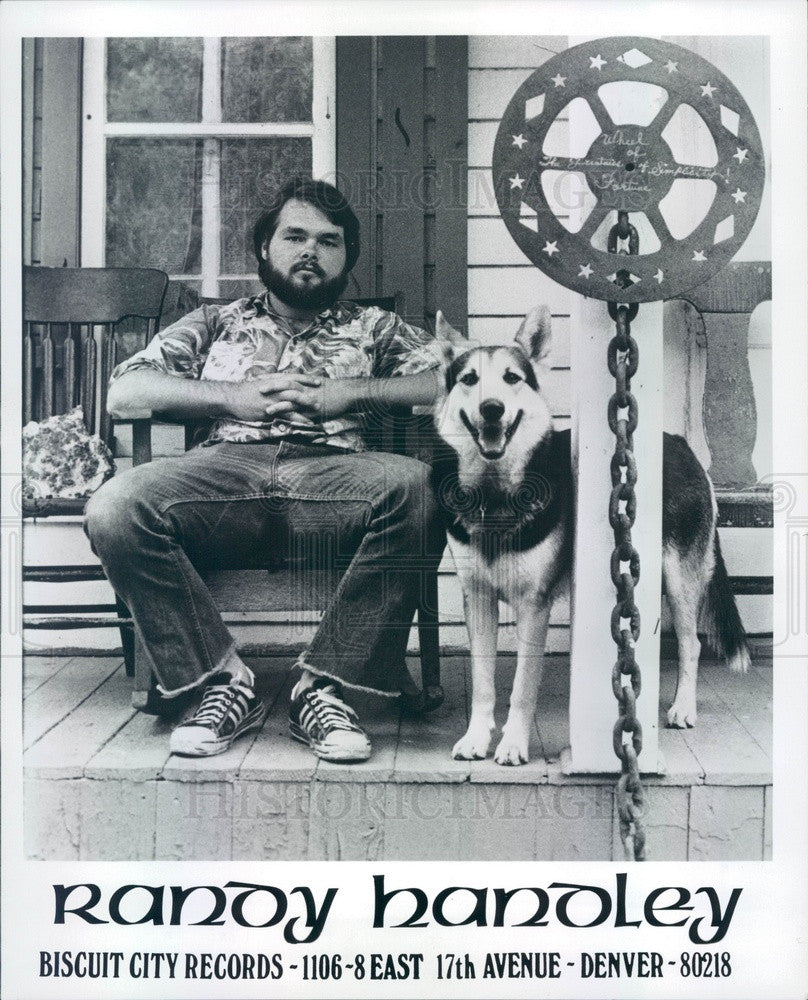 1977 Denver, Colorado Musician Randy Handley Press Photo - Historic Images