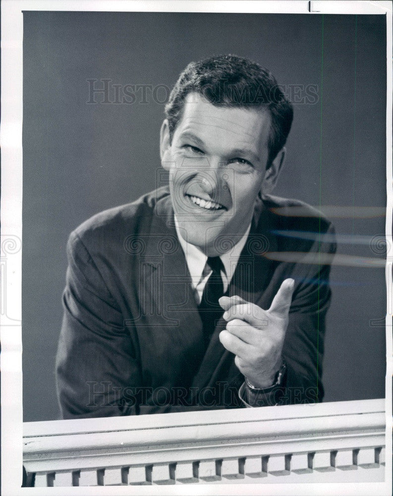 1963 TV Game Show Host Tom Kennedy Press Photo - Historic Images