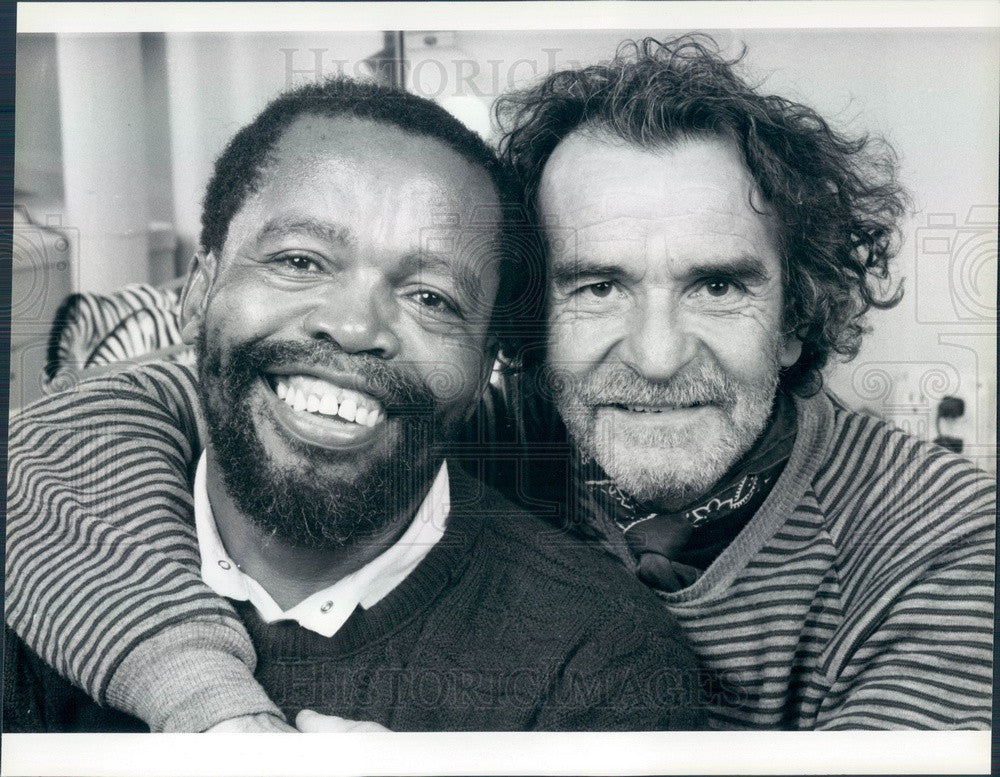 1987 South African Playwright Athol Fugard Press Photo - Historic Images