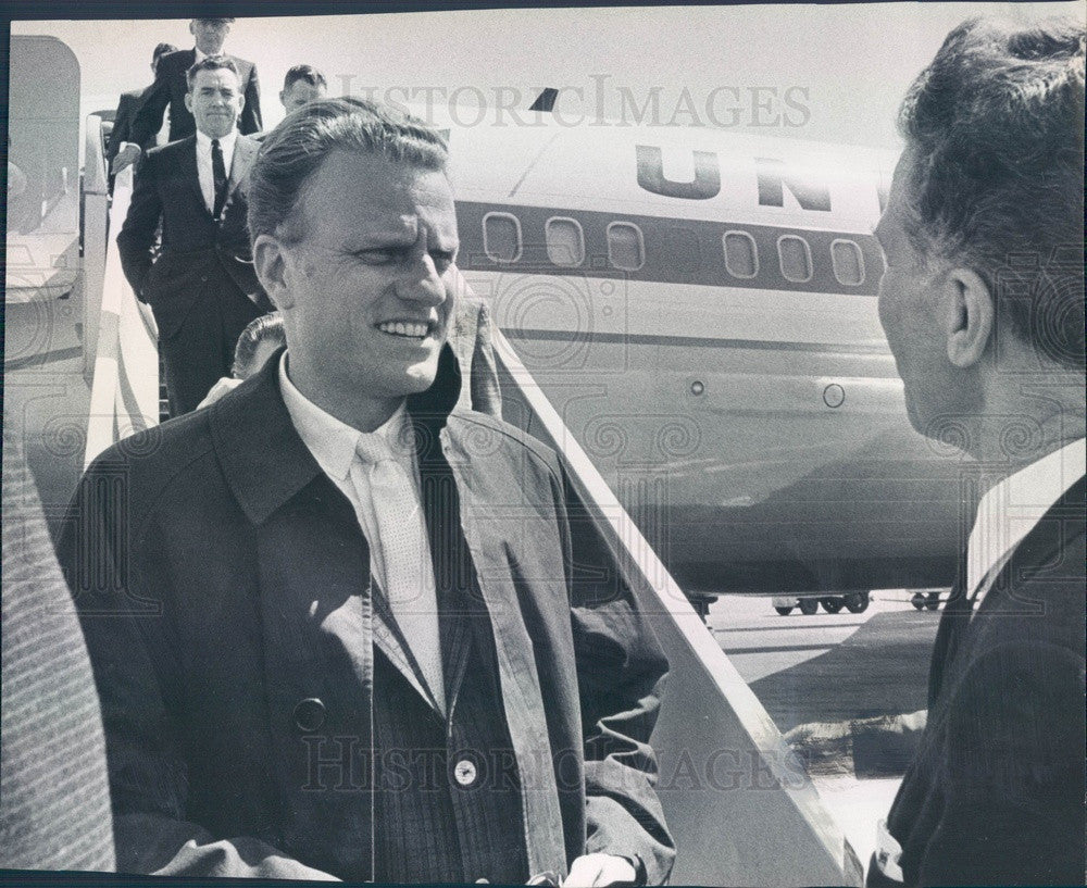 1962 Evangelist Rev. Dr. Billy Graham Press Photo - Historic Images