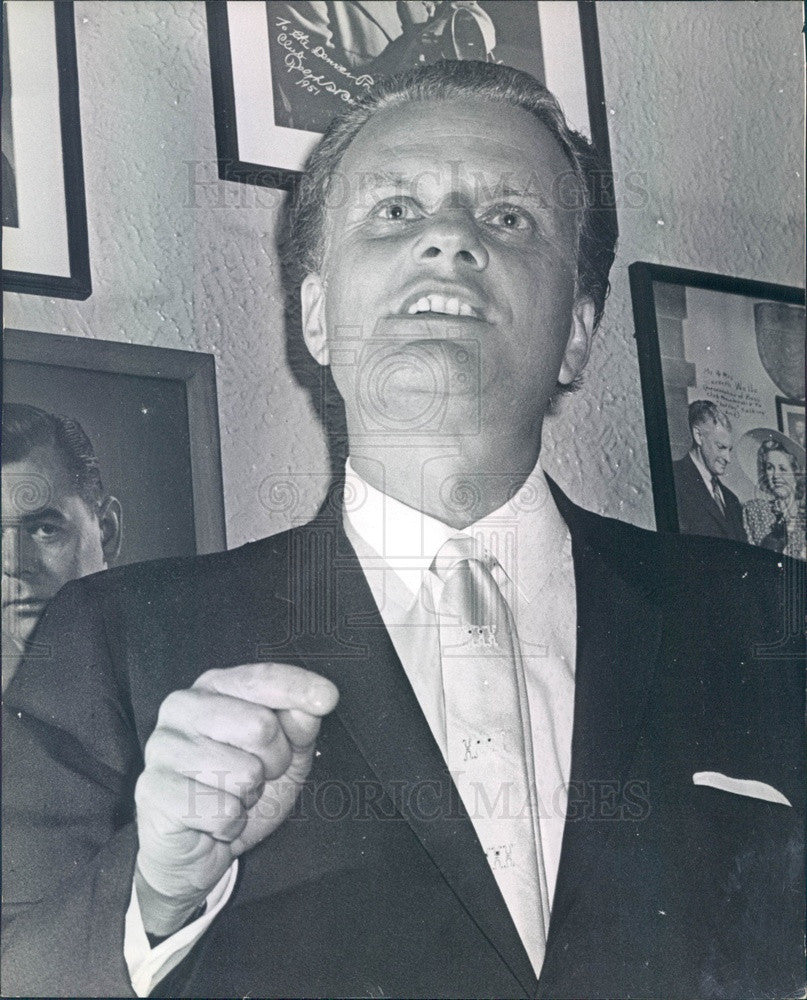 1965 Evangelist Rev. Dr. Billy Graham Press Photo - Historic Images
