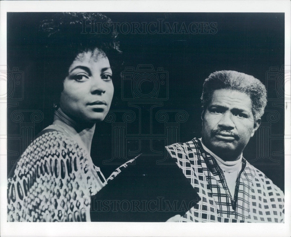 1980 American Hollywood Actors Ossie David & Ruby Dee Press Photo - Historic Images