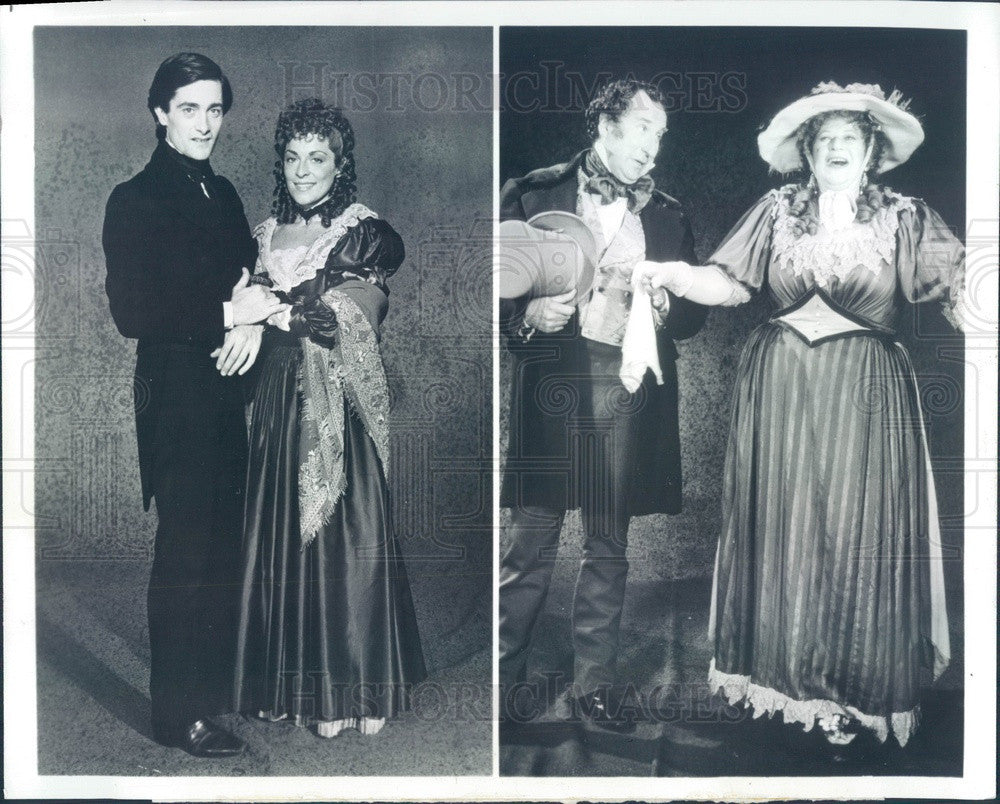 1982 Actors Roger Rees & Suzanne Bertish TV Show Nicholas Nickleby Press Photo - Historic Images