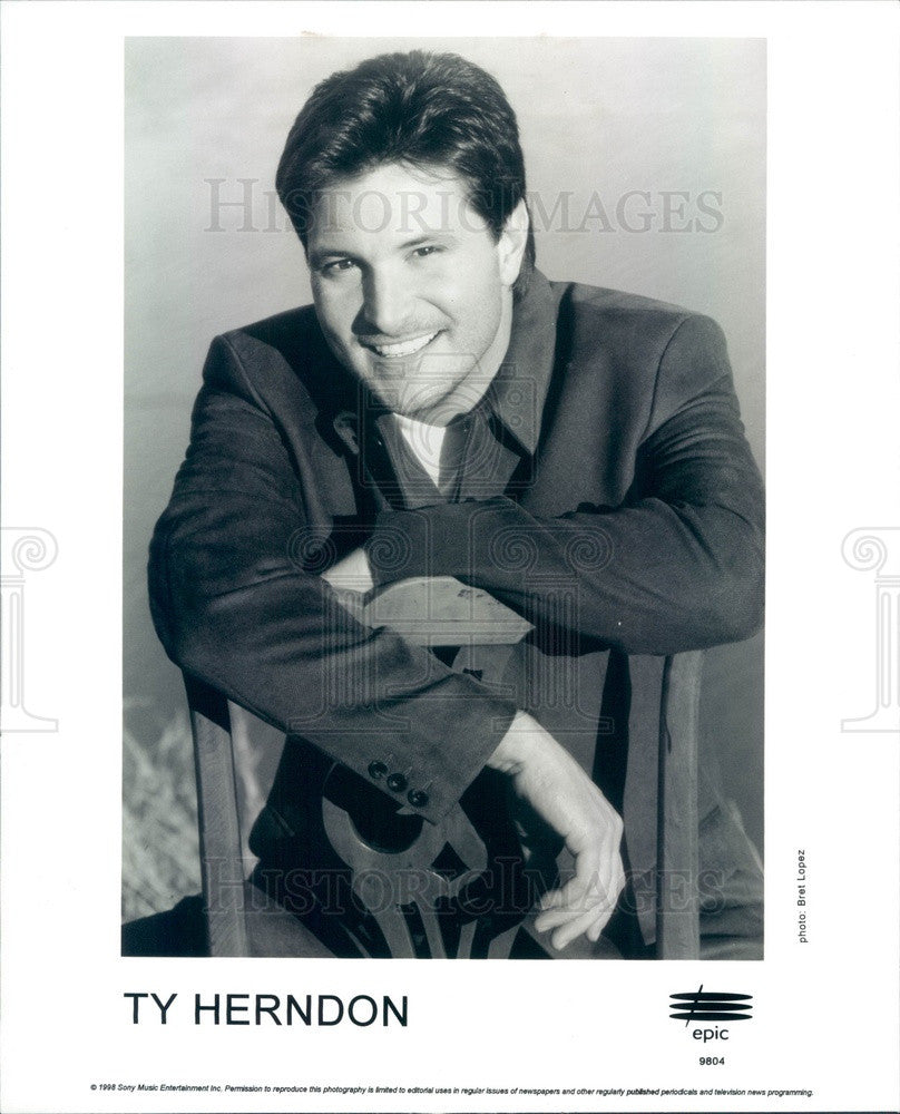 1993 American Country Music Singer Ty Herndon Press Photo - Historic Images