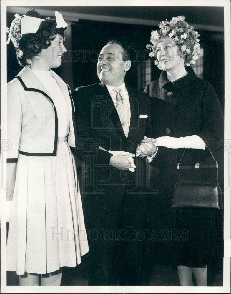 1962 Band of America Conductor Paul Lavalle, Singer Muriel Angelus Press Photo - Historic Images