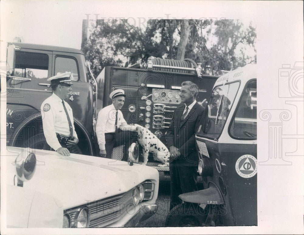 1969 Dunedin, FL Prosser Brothers, Policeman Bill, Fireman Jim, Ken Press Photo - Historic Images