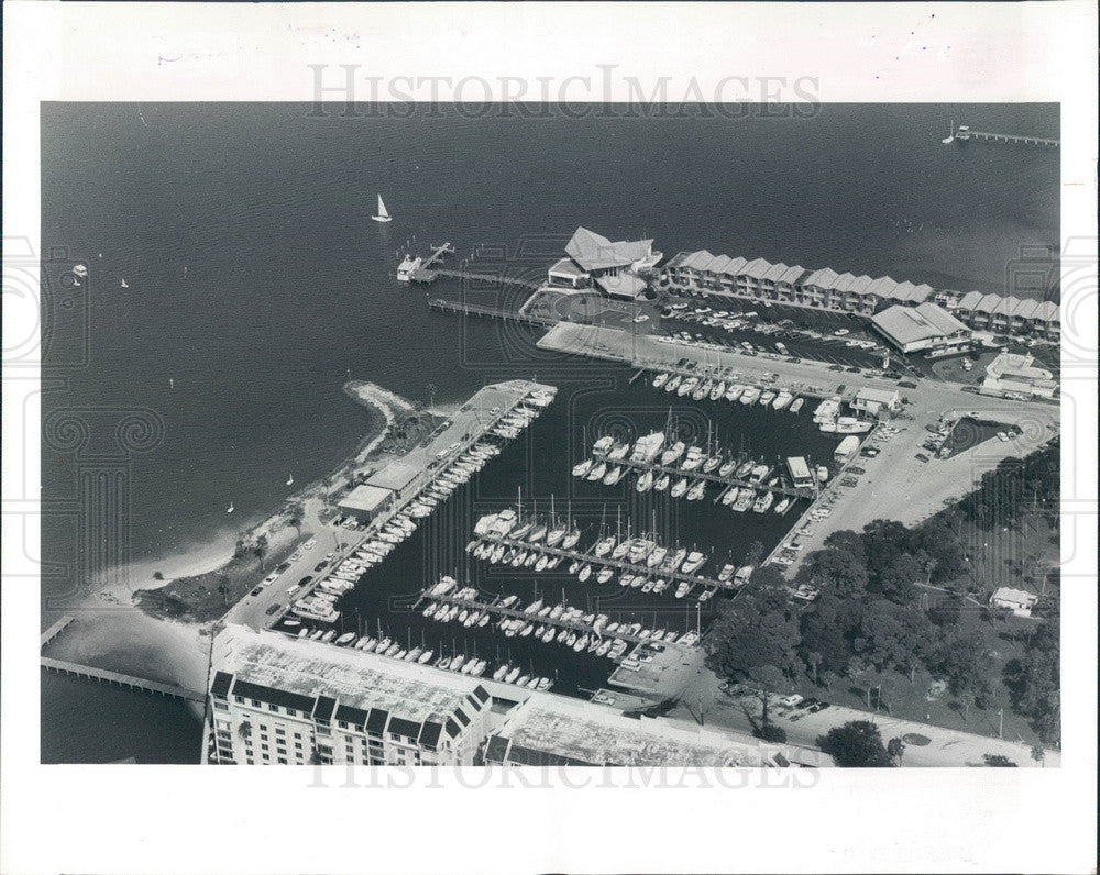 1983 Dunedin, Florida Municipal Marina Aerial View Press Photo - Historic Images